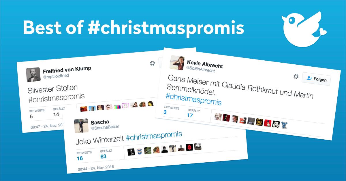 Die besten Tweets zu #christmaspromis