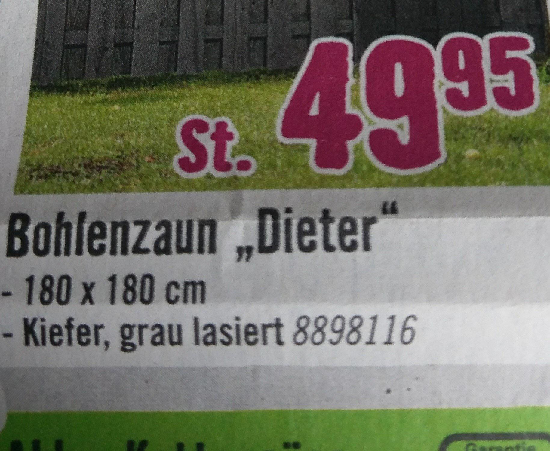 Bohlenzaun Dieter