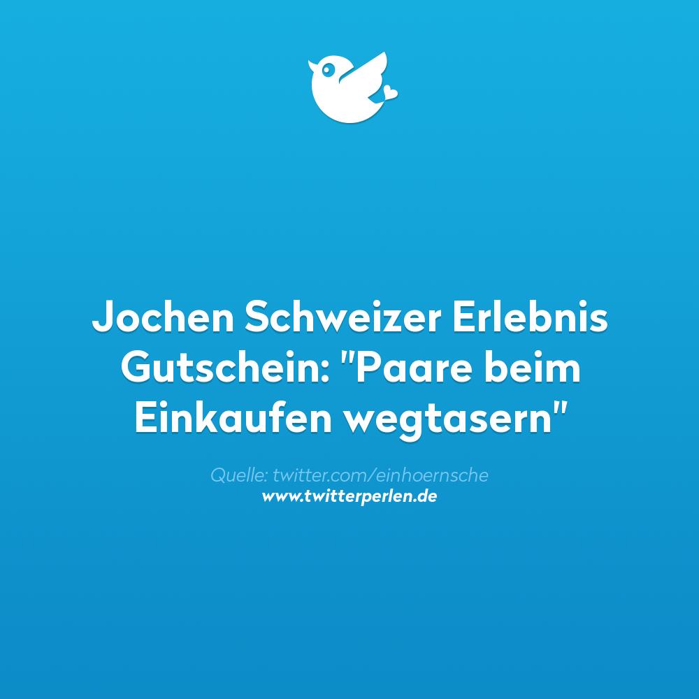 """Jochen Schweizer Erlebnis Gutschein: """"Paare beim Einkaufen wegtasern"""""""
