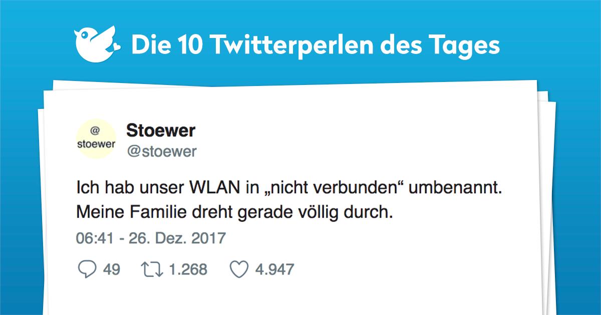Die 10 Twitterperlen vom 27. Dezember 2017