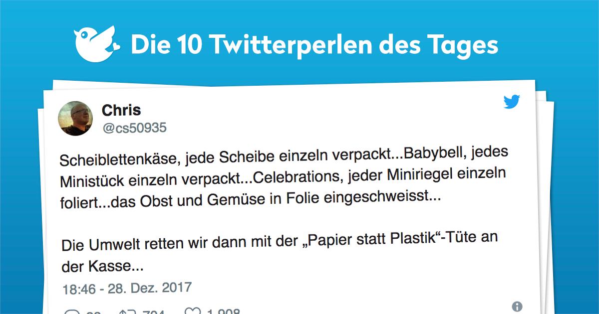 Die 10 Twitterperlen vom 29. Dezember 2017
