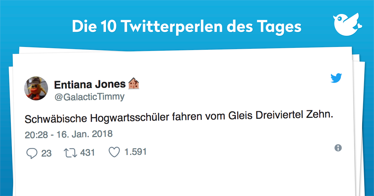Die 10 Twitterperlen vom 17. Januar 2018