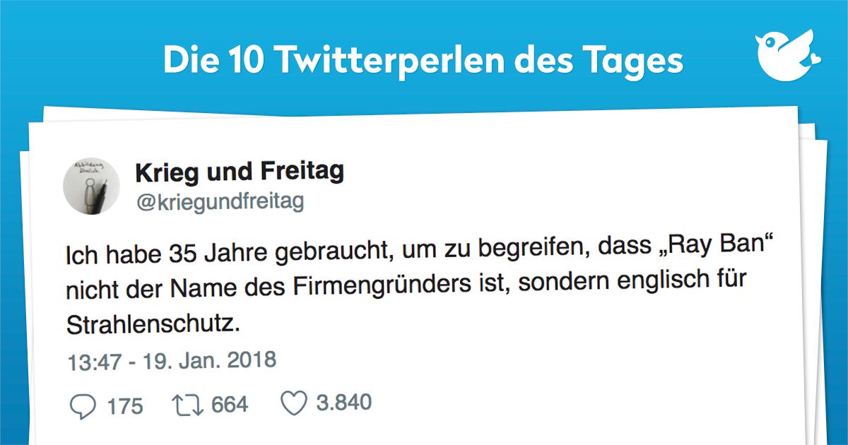 Die 10 Twitterperlen vom 20. Januar 2018