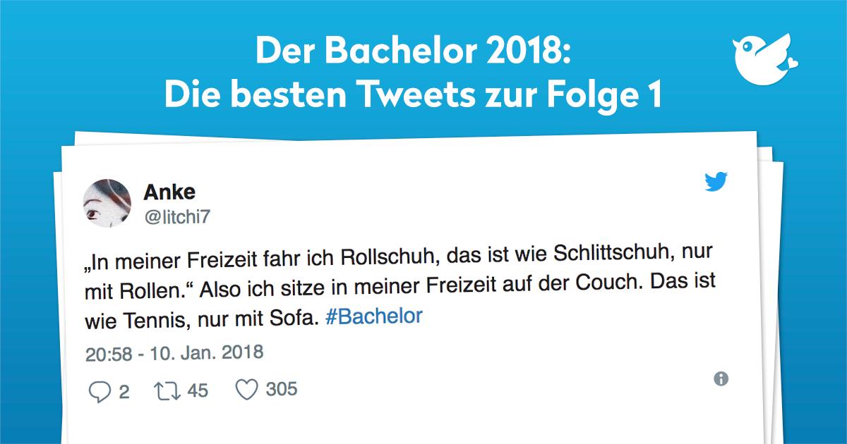 der bachelor 2018 die besten tweets zu folge 1. Black Bedroom Furniture Sets. Home Design Ideas