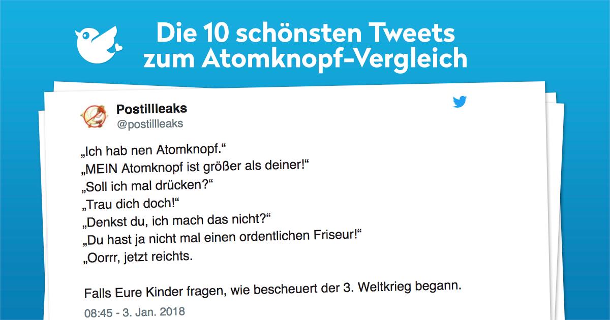 Die 10 schönsten Tweets zum Atomknopf-Vergleich
