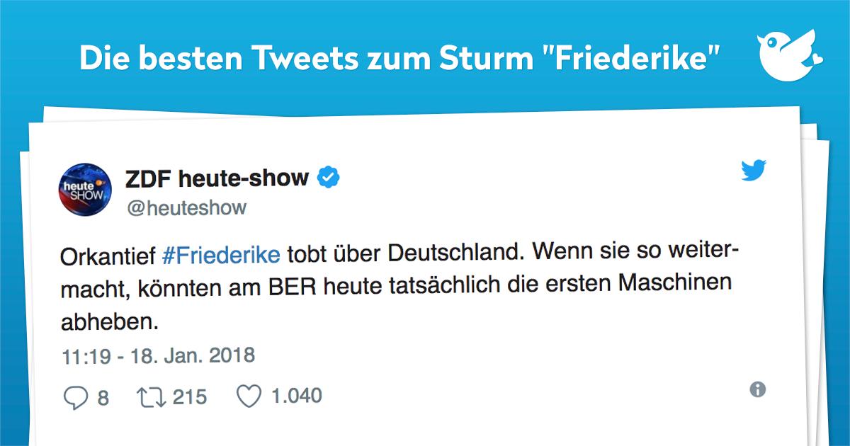 """Die besten Tweets zum Sturm """"Friederike"""""""