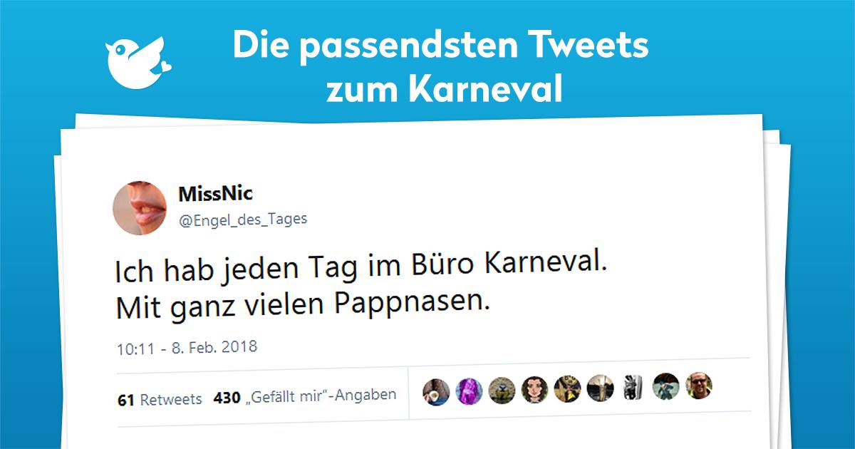 Die Passendsten Tweets Zum Karneval Twitterperlen