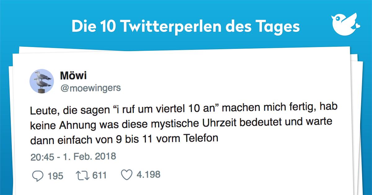 Die 10 Twitterperlen vom 02. Februar 2018