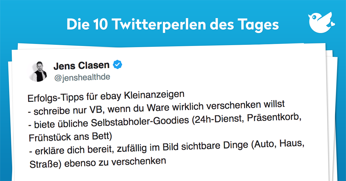 Die 10 Twitterperlen vom 03. Februar 2018