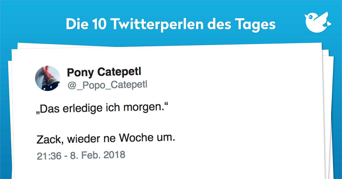Die 10 Twitterperlen vom 09. Februar 2018