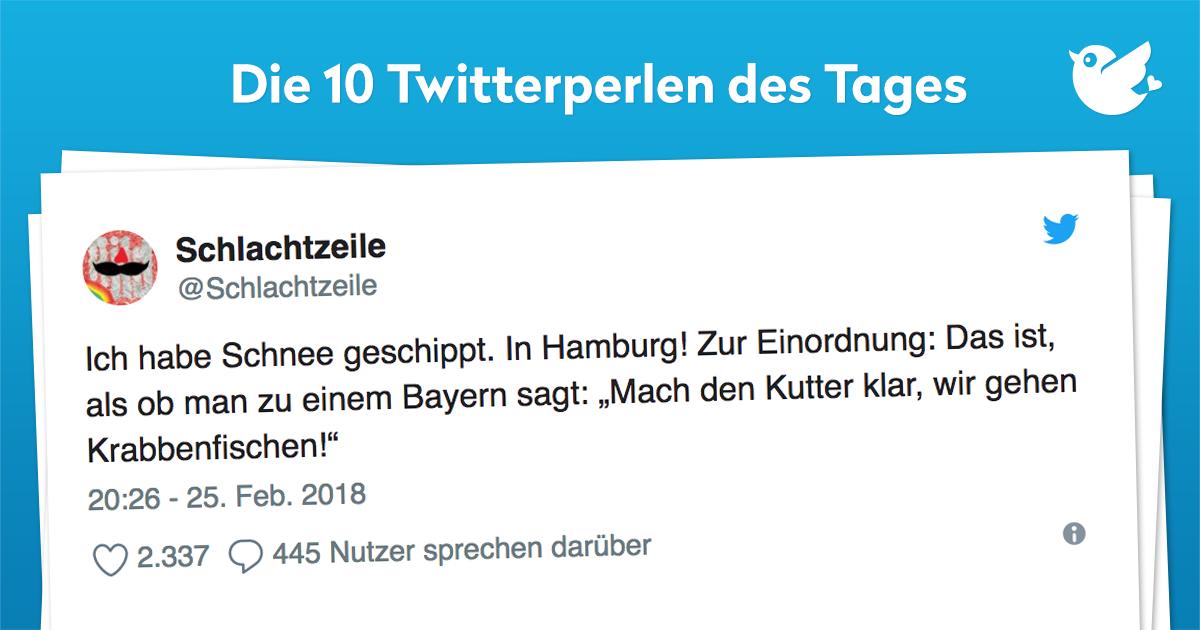 Die 10 Twitterperlen vom 26. Februar 2018
