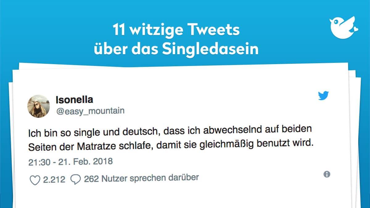 11 Witzige Tweets Uber Das Singledasein Twitterperlen