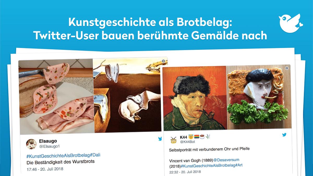 Kunstgeschichte als Brotbelag: Twitter-User bauen berühmte Gemälde nach