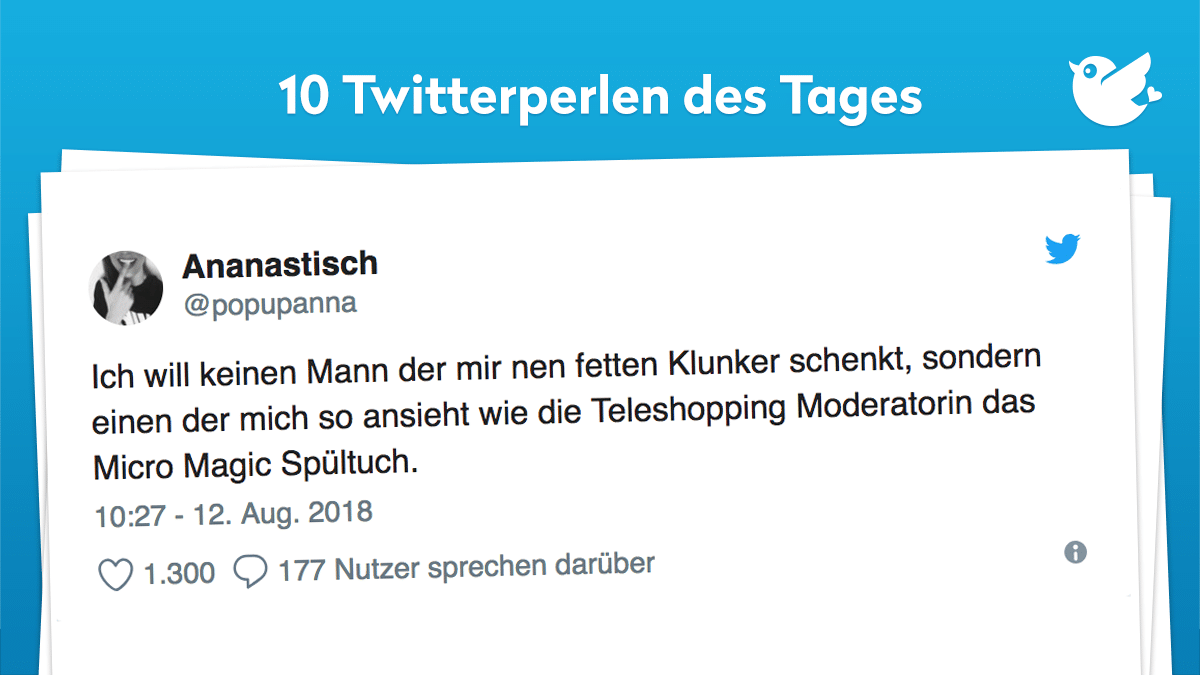 Die besten Twitterperlen vom 13. August 2018