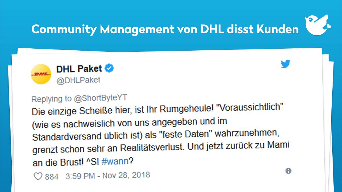 Lieferando Schickt Der Dhl Diva Ein Snickers Twitterperlen