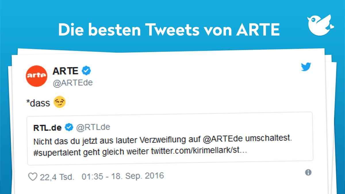 Flyer Kultur-Shit: Die besten Tweets von @ARTEde | Twitterperlen