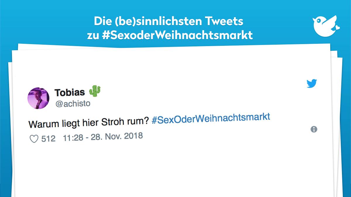 Sex Oder Weihnachtsmarkt Twitter User Eskalieren