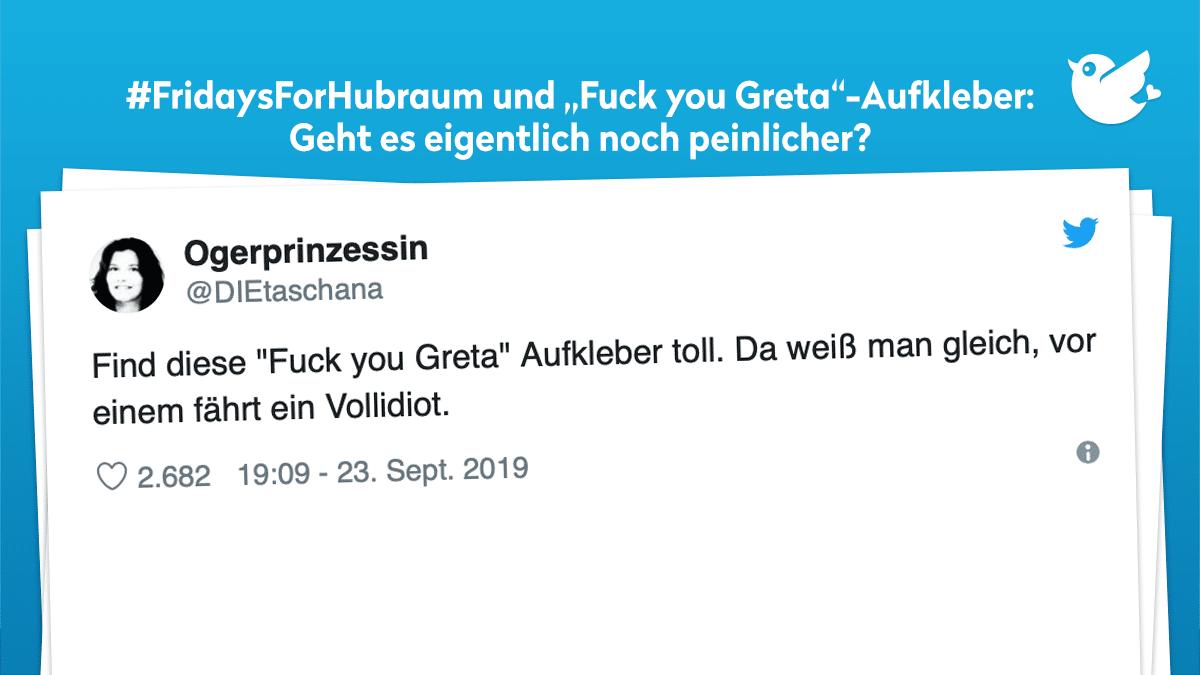 Fridaysforhubraum Und Fuck You Greta Aufkleber Die