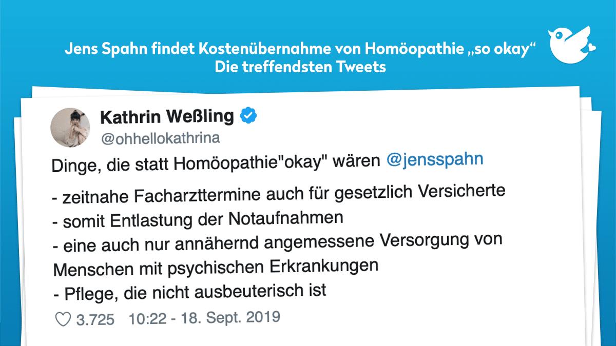 Jens Spahn Kostenubernahme Bei Homoopathie So Okay Die Treffendsten Tweets Twitterperlen