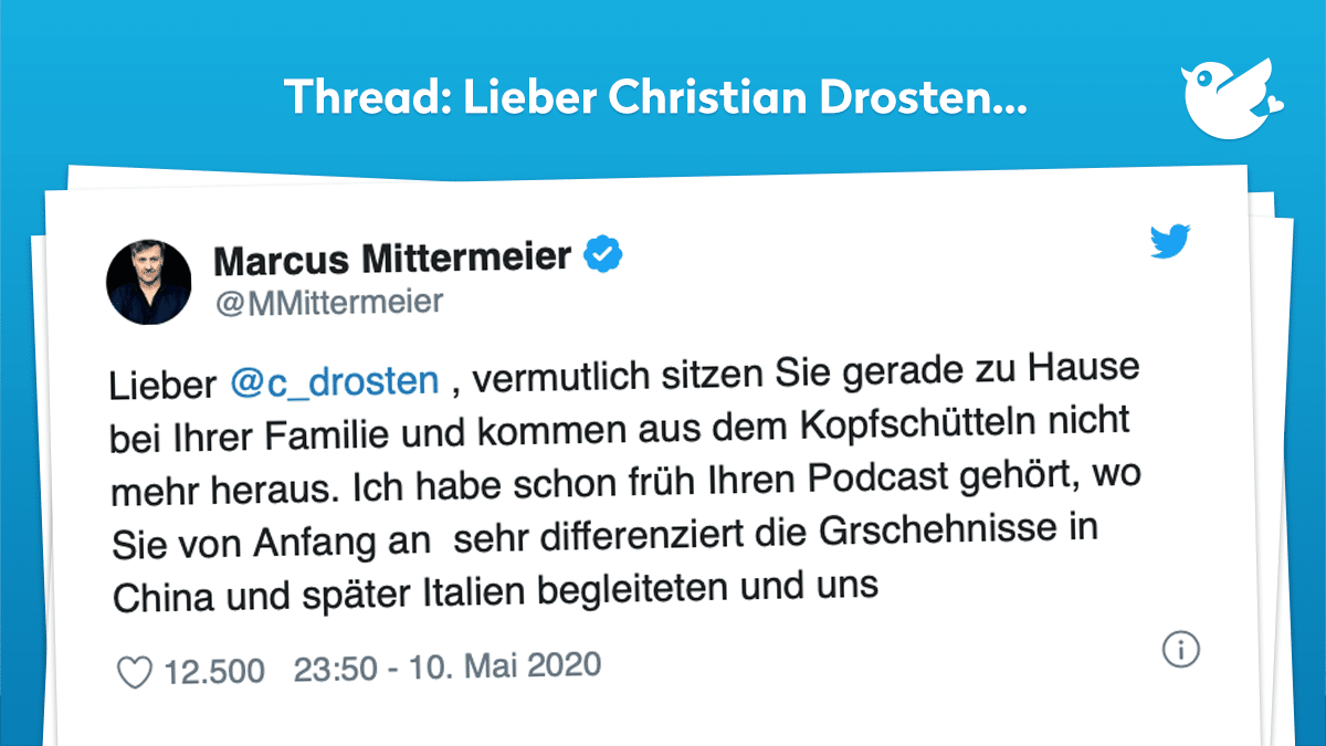 C Drosten Twitter