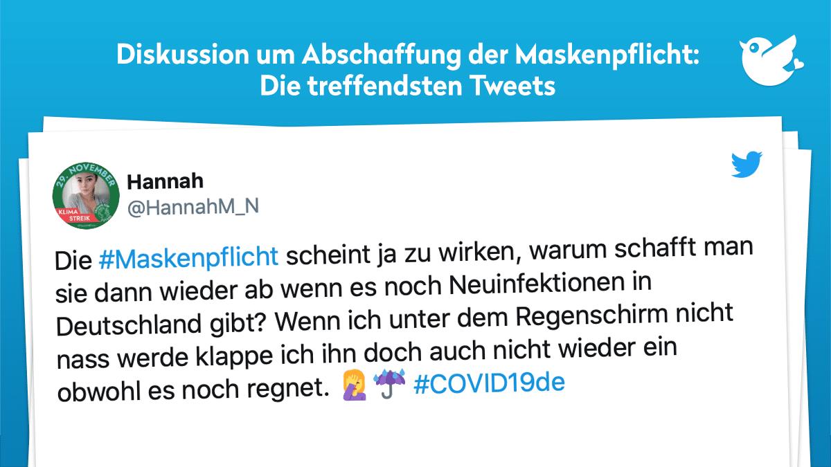 Abschaffung Der Maskenpflicht Die Treffendsten Tweets Twitterperlen